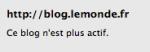 blog pas actif