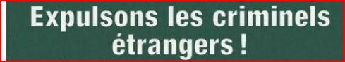criminels étrangers lds = udc